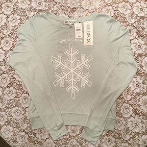 """Wildfox """"One of a Kind"""" Snowflake Tee XS"""